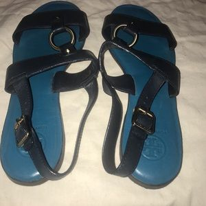 Tory Burch Navy Blue vintage sandal
